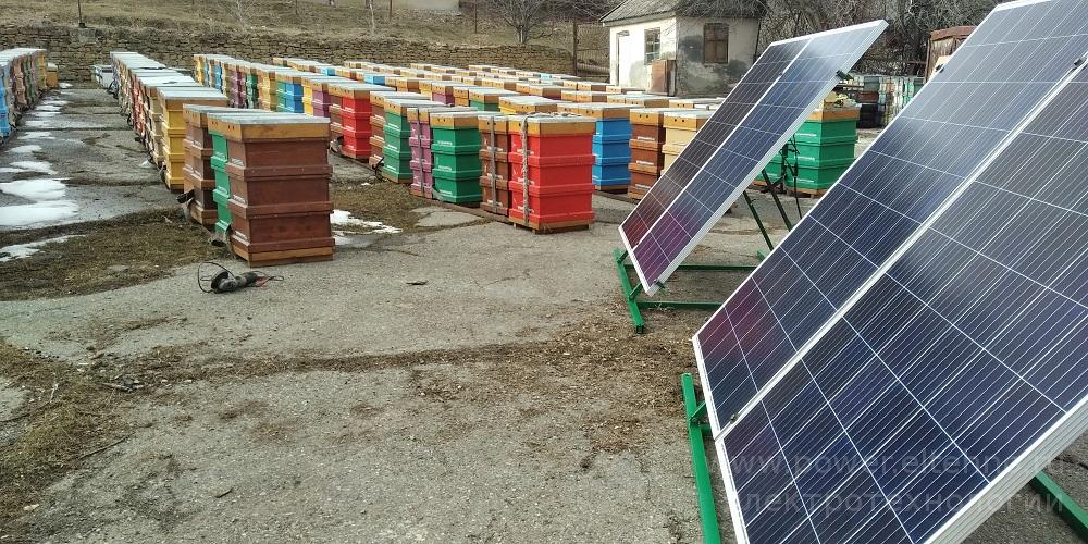Автономное электроснабжение Пасеки на базе карбоновых АКБ Vektor и солнечных батарей DELTA