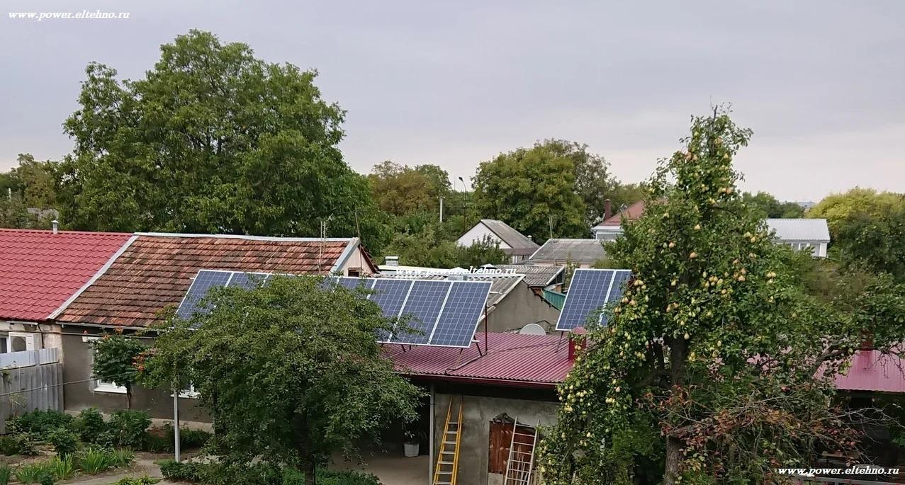 Установленные солнечные батареи SILA в городе Ессентуки