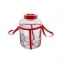 Стеклянная банка с гидрозатвором 5 литров