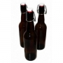 Бутылка с бугельной пробкой, коричневое стекло 0,5л (15 шт)
