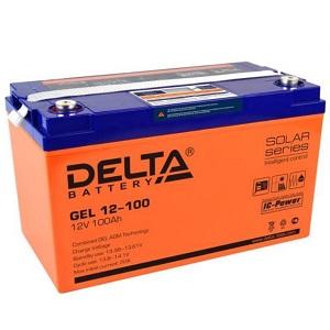 Delta GEL 12-100 свинцово-кислотный аккумулятор