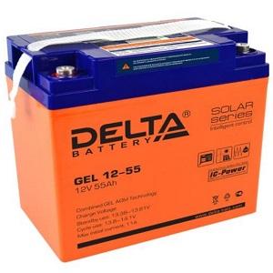 Delta GEL 12-55 свинцово-кислотный аккумулятор