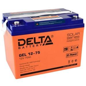 Delta GEL 12-75 свинцово-кислотный аккумулятор