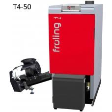 Котёл на щепе и пеллетах Froling T4 50 кВт автоматический (стокер слева)