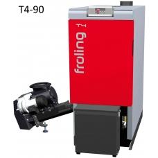 Котёл на щепе и пеллетах Froling T4 90 кВт автоматический (стокер слева)