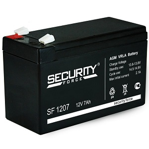 Аккумулятор SF 1207 Security Force